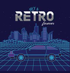 Retro forever vector