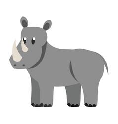 Rhino wild animal vector