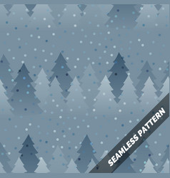 seamless pattern spruce forest in the snow vector image
