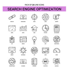 Search engine optimization line icon set - 25 vector