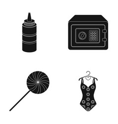 Seasoning pleasure and other web icon in black vector