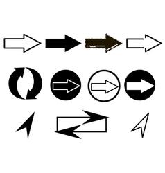 Set of arrows web icons vector image