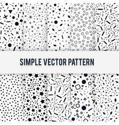 Set of simple chaotic forms of pattern on a vector