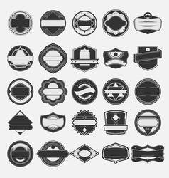 Set of vintage label vector image