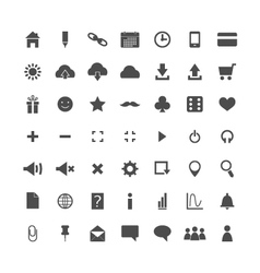 Set of web icons isolated vector