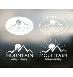 Set summer mountain camp badge logo and label vector