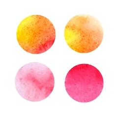 set yellow and red watercolor stains vector image