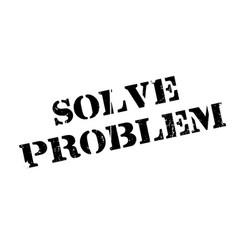solve problem rubber stamp vector image