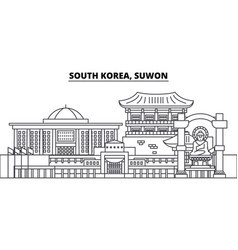 South korea suwon line skyline vector