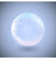 Sphere on blue background vector image