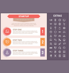 startup infographic template elements and icons vector image