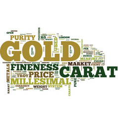 The price of gold text background word cloud vector