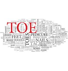 Toe word cloud concept vector