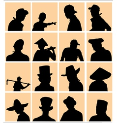 using hat silhouette vector image