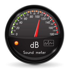 Volume unit meter sound audio equipment black vector