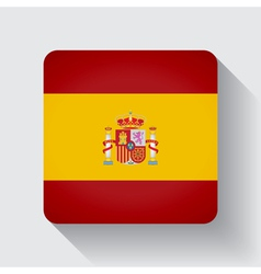 Web button with flag of Spain vector