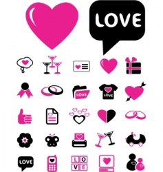 wedding signs vector image