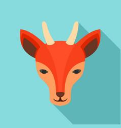 wild doe icon flat style vector image