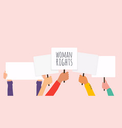woman right women resist symbol vector image