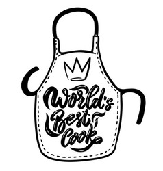world best cook lettering phrase on background vector image