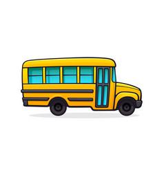 yellow school bus for school vector image