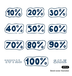 Discount icons set vector image vector image