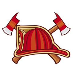 Fire Department or Firefighters Symbol vector image vector image