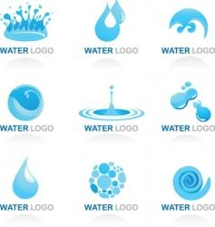 Nature logos 03 water theme vector