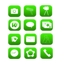 Phone Icons green vector image vector image