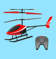 red helicopter plaything and black small control vector image vector image