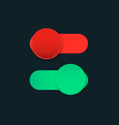 switch off on slider vector image
