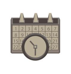 calendar clock icon time date symbol sign concept vector image