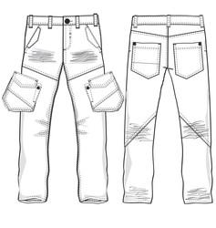 Denim trousers vector image