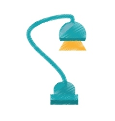 drawing green desk lamp electronic appliance vector image