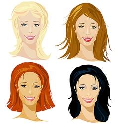 four representative of women vector image vector image