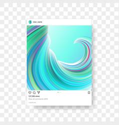 instagram photo frame gradient background vector image