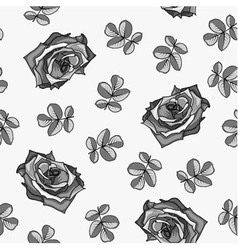 Seamless pattern made from black and white roses vector image vector image