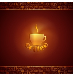 abstract background with coffee cup vector image vector image