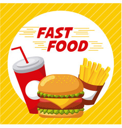 fast food restaurant menu brochure vector image
