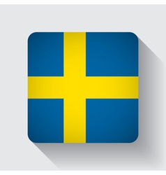 Web button with flag of Sweden vector image vector image