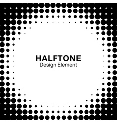 White Abstract Halftone Design Element vector image vector image