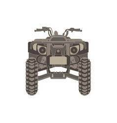 Atv front view isolated icon off-road motorcycles vector