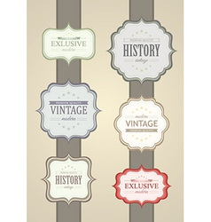 Collection of Vintage Label vector image