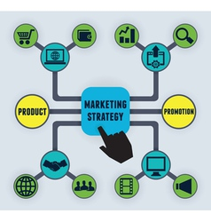 Infographic of marketing strategy vector image vector image