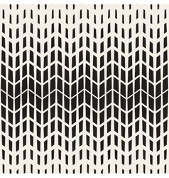 Seamless Black And White Chevron Halftone vector image vector image