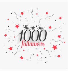 1000 social media followers thank you poster vector