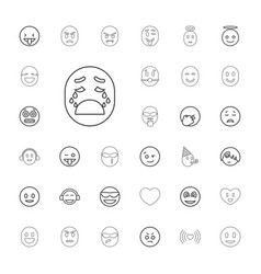 33 emotion icons vector