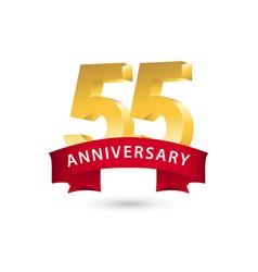 55 year anniversary template design vector
