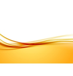 Abstract orange swoosh satin wave line border vector
