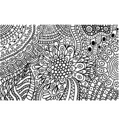 abstract ornament doodle coloring page for adults vector image